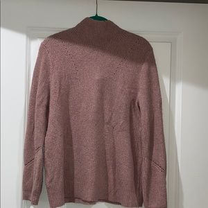 Pink mock neck sweater Loft